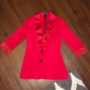 RED FITTED BLAZER / SMALL